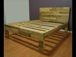 How To Make Wood Platform Bed Frame by How To Make A Pallet Bed How To Make A Bed From Pallets Youtube
