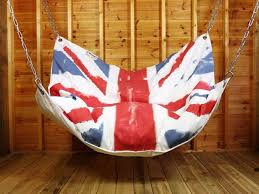 furniture accessories flag pattern swing indoor hammock