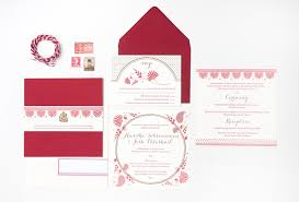 Red Wedding Invitations Amritha Josh U0027s Red And Gold Letterpress Wedding Invitations
