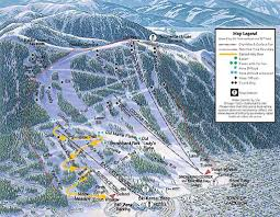 Colorado Ski Map by Snow King Resort Trail Map