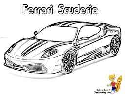 free coloring pages ferrari coloring ferrari cars free