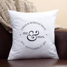 mr and mrs pillow personalized mr and mrs pillow walmart