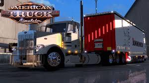 kw box truck american truck simulator huge 4 axle box trailer pete 389