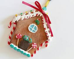 miniature gingerbread house ornament