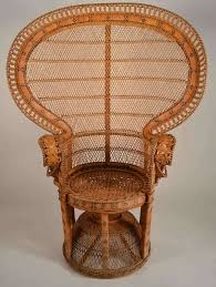rattan peacock chair at 1stdibs