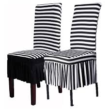 Black Dining Chair Covers Stretch Dining Chair Cover Black White Animal Zebra Wedding