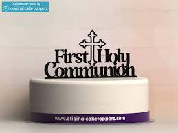 communion cake toppers holy communion black christian celebration cake topper