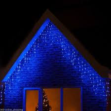blue icicle lights led icicle lights 180 blue cool white