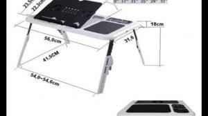 multipurpose laptop foldable table e table with 2 usb fan etb001