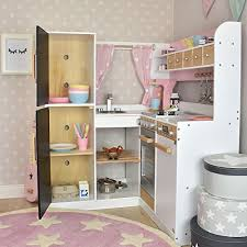 sun kinderküche sun kinderküche aus holz rosa weiss de spielzeug