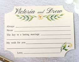 my advice for the and groom cards wedding comment card etsy
