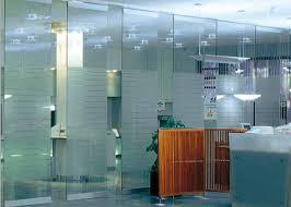cloison verre bureau cloison de séparation de verre trempé pour l opérabilité commode