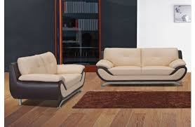 elegant two tone leather sofa monda couch create your own two tone