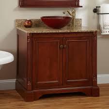 36 vessel sink vanity cherry bathroom vanity 36 modern bathroom decoration
