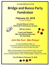 bunco party arcadia chamber of commerce the connection to the business community