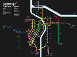 City Of Portland Maps by Transit Map Cameron Booth