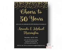 50th wedding anniversary gift etiquette uncategorized cheers to 50 years invitation 50th anniversary