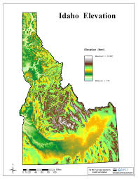 Elevation Map Of United States by Idaho Maps Page 1 Nrcs Idaho