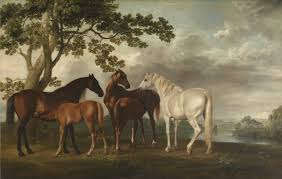 mares and foals in a river landscape u0027 george stubbs c 1763 8 tate