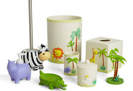 themed accessories animals of the themed bathroom accessories set