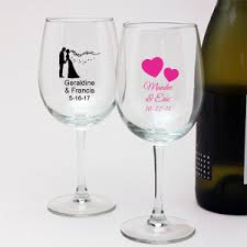 wedding favor glasses personalized 12 oz wedding wine glass personalized chagne