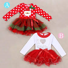2018 2016 Hot Sale Baby Girls Christmas One Piece Long Sleeve Tutu