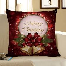 home decor christmas bell printed pillow case colorful w inch l