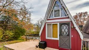 500 sq ft tiny a frame cabin in lampe missouri adorable small