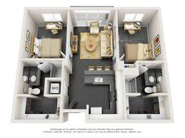 2 bedroom apartment floor plan vertex
