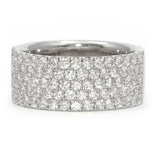 gold diamond band wide white gold anniversary band pave diamonds wixon jewelers