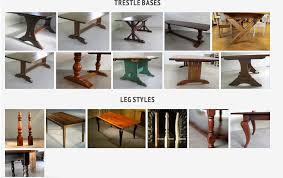 dining room table legs most popular dining table leg styles ecustomfinishes