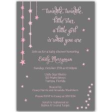 twinkle stars pink baby shower invitation u2013 the invite lady