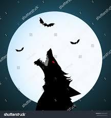 halloween night wolf moon stock vector 472577323 shutterstock