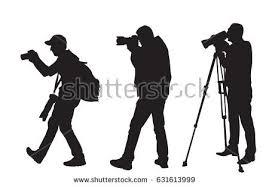 photographer and videographer photographers cameramen stock vector 260170916
