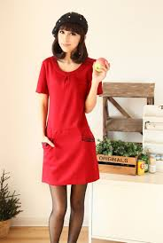 casual red dress with sleeves wallpaper