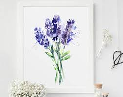 Lavender Home Decor Lavender Wall Art Etsy