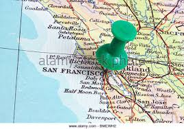 san francisco on map san francisco map stock photos san francisco map stock images