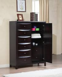 Bedroom Set With Media Chest Furniture Modern And Sleek Chest Furniture In Black Color With