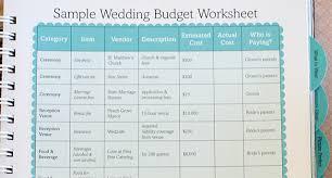wedding budget wedding budget exles paso evolist co