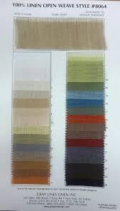 Drapery Fabric Characteristics Open Weave Style 8064 Linen Gray Lines Linen Inc