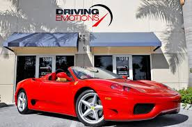 ferrari dealership showroom 2004 ferrari 360 spider stock 5851 for sale near lake park fl