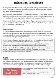 Coping Skills For Anxiety Worksheets Relaxation Techniques Worksheet Therapist Aid