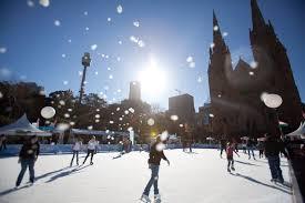winter festival fremantle skating on the esplanade perth