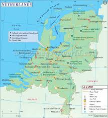 belgium and netherlands map map