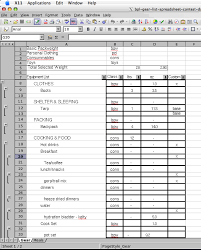 Food Inventory Spreadsheet 2005 Backpacking Light Trip Planning Spreadsheet Contest Entries