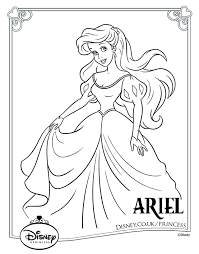 disney princess colouring pages 18 color tickled pink