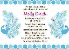 peacock invitations peacock baby shower invitations candles and favors