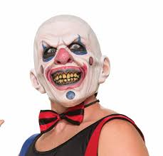 halloween mask clown amazon com forum novelties men u0027s twisted clown latex mask multi