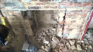 breakout and widening of 1950 u0027s fireplace installation of