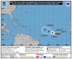 new tropical depression expected to become tropical storm lee over